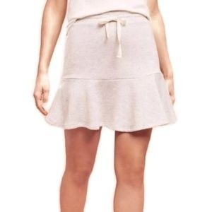 Anthropologie Gray Knit Flare Skirt Small